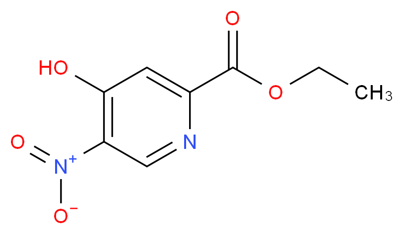 ethyl 4-hydroxy-5-nitropyridine-2-carboxylate_分子结构_CAS_1196157-33-1