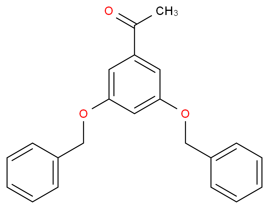 1-[3,5-bis(benzyloxy)phenyl]ethan-1-one_分子结构_CAS_28924-21-2