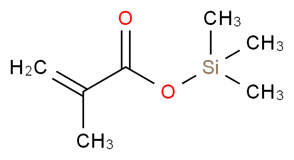 trimethylsilyl 2-methylprop-2-enoate_分子结构_CAS_13688-56-7