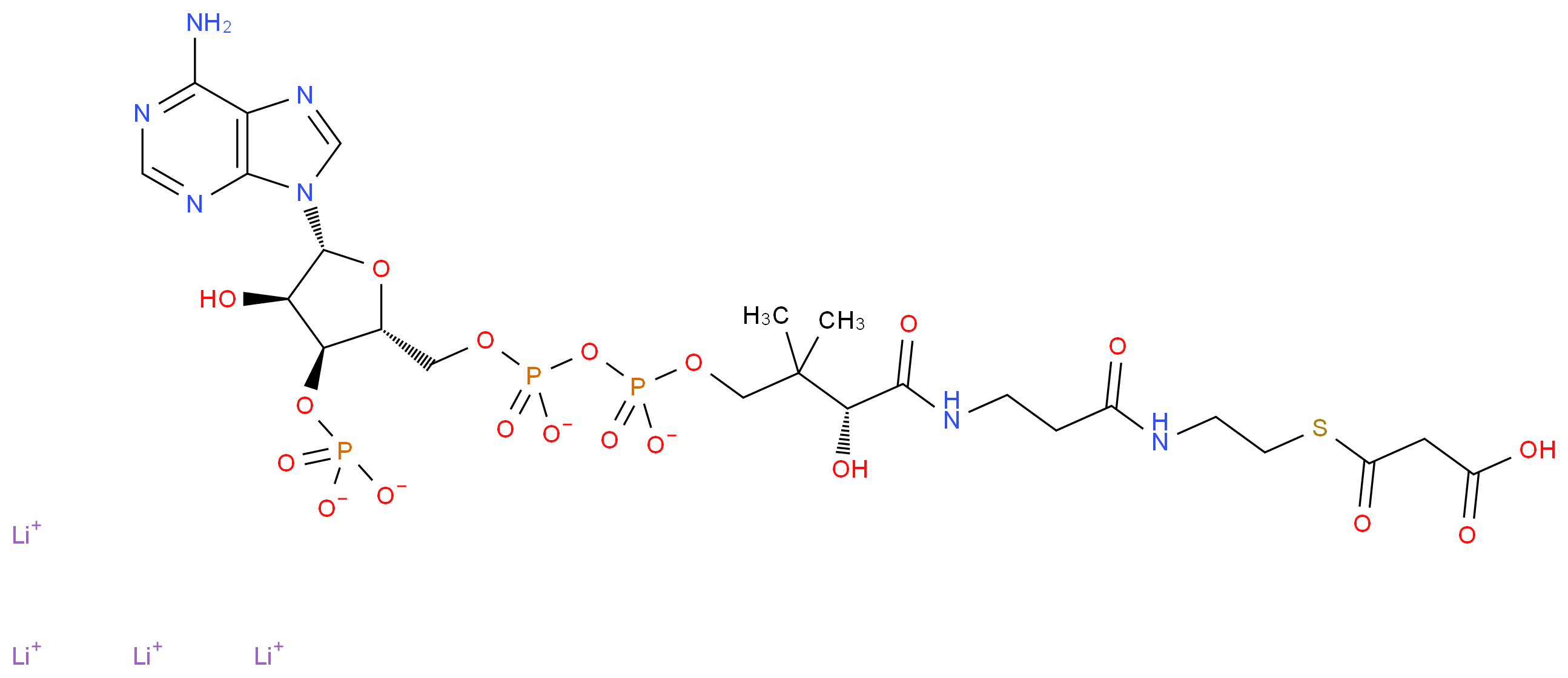 116928-84-8|Malonyl coenzyme A tetralithium salt|Sigma