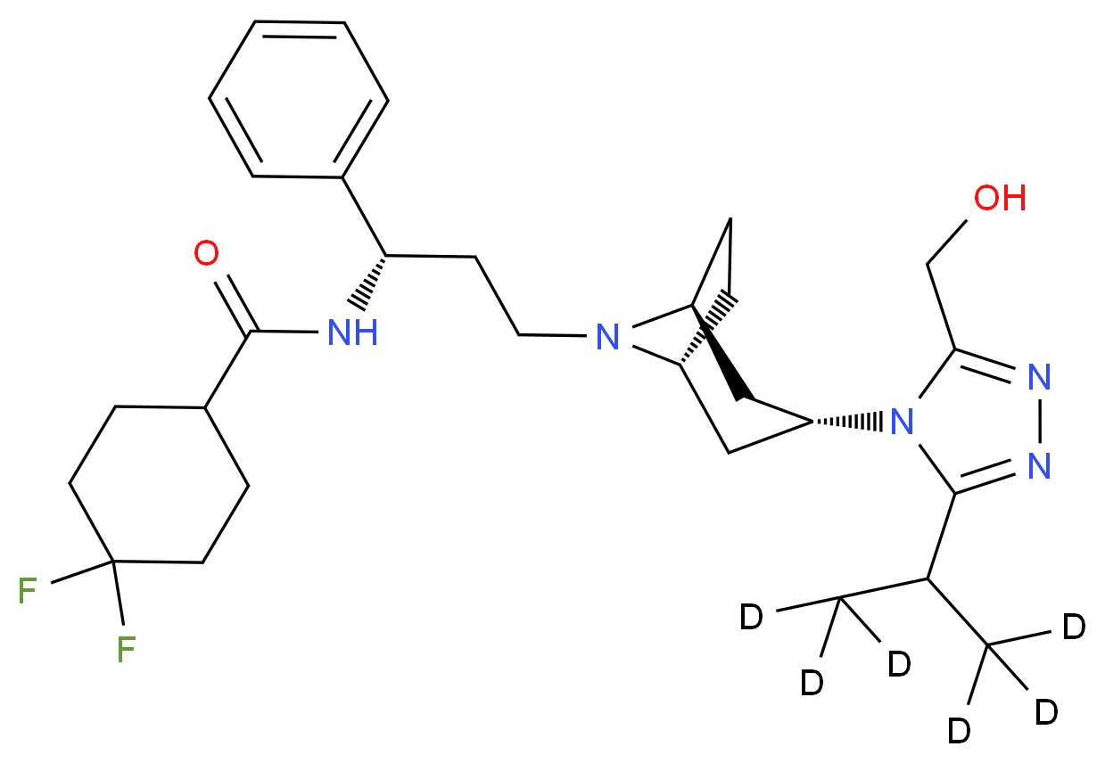 3-Hydroxymethyl Maraviroc-d6_分子结构_CAS_1217536-16-7)