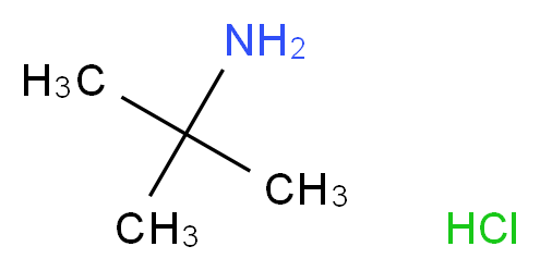 2-methylpropan-2-amine hydrochloride_分子结构_CAS_10017-37-5