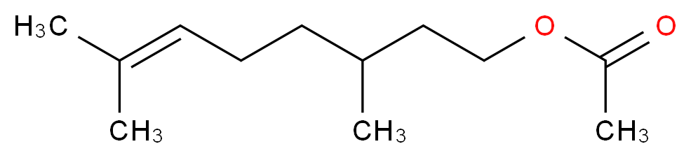 CITRONELLYL ACETATE_分子结构_CAS_150-84-5)