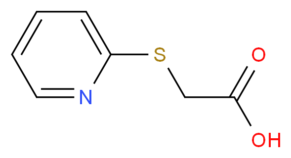 2-(pyridin-2-ylsulfanyl)acetic acid_分子结构_CAS_10002-29-6