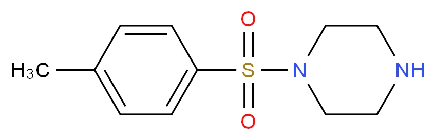 1-(4-methylbenzenesulfonyl)piperazine_分子结构_CAS_27106-51-0