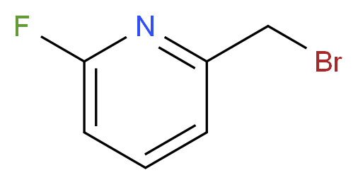 2-(bromomethyl)-6-fluoropyridine_分子结构_CAS_100202-78-6