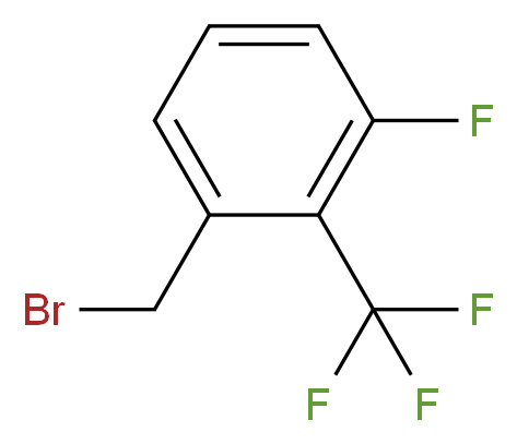 1-(bromomethyl)-3-fluoro-2-(trifluoromethyl)benzene_分子结构_CAS_261951-84-2