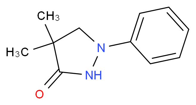 4,4-dimethyl-1-phenylpyrazolidin-3-one_分子结构_CAS_2654-58-2