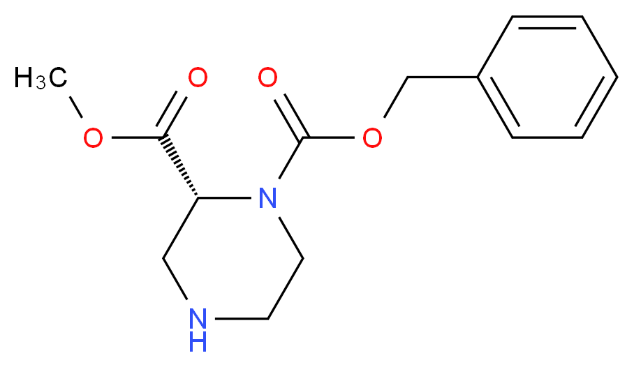 (R)-1-Benzyl 2-Methyl piperazine-1,2-dicarboxylate_分子结构_CAS_1217598-28-1)