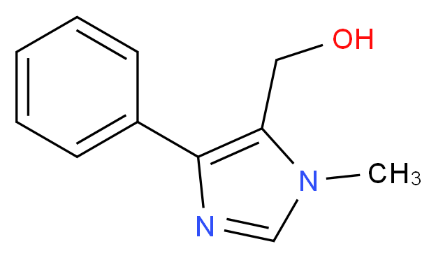 (1-METHYL-4-PHENYL-1H-IMIDAZOL-5-YL)METHANOL_分子结构_CAS_655253-57-9)