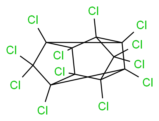dodecachloropentacyclo[5.3.0.0<sup>2</sup>,<sup>6</sup>.0<sup>3</sup>,<sup>9</sup>.0<sup>4</sup>,<sup>8</sup>]decane_分子结构_CAS_2385-85-5