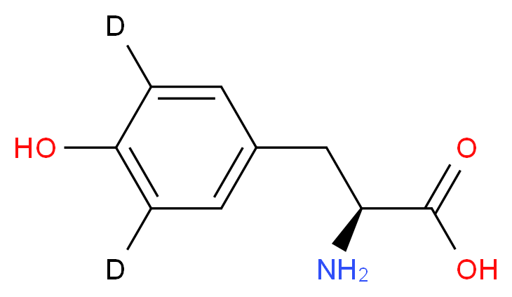 (2S)-2-amino-3-[4-hydroxy(3,5-<sup>2</sup>H<sub>2</sub>)phenyl]propanoic acid_分子结构_CAS_30811-19-9