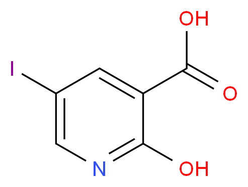 2-hydroxy-5-iodopyridine-3-carboxylic acid_分子结构_CAS_390360-97-1