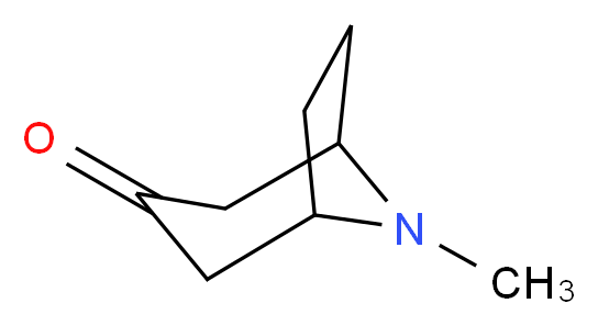 8-methyl-8-azabicyclo[3.2.1]octan-3-one_分子结构_CAS_532-24-1