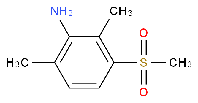2,6-Dimethyl-3-(methylsulphonyl)aniline_分子结构_CAS_)