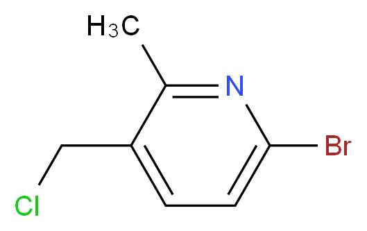 6-bromo-3-(chloromethyl)-2-methylpyridine_分子结构_CAS_1196157-21-7)