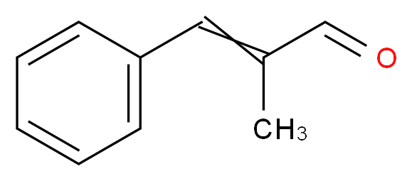 2-methyl-3-phenylprop-2-enal_分子结构_CAS_101-39-3