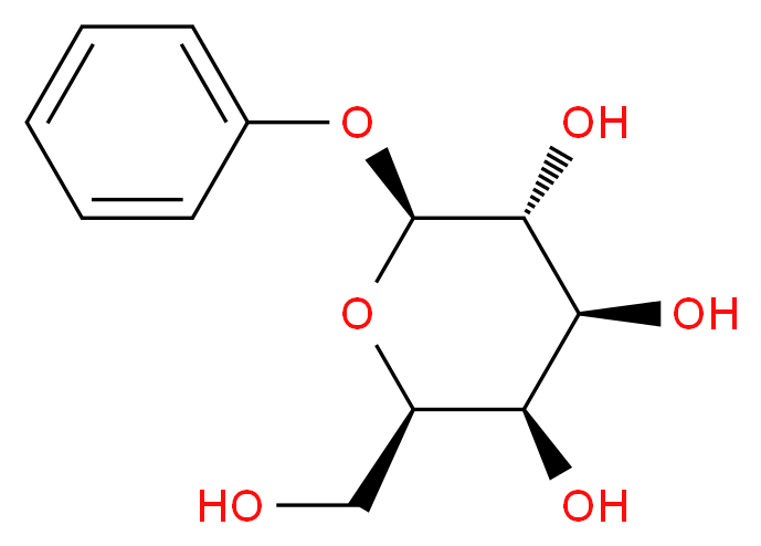 (2R,3R,4S,5R,6S)-2-(hydroxymethyl)-6-phenoxyoxane-3,4,5-triol_分子结构_CAS_2818-58-8