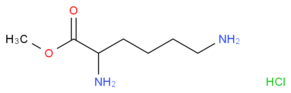 methyl 2,6-diaminohexanoate hydrochloride_分子结构_CAS_26348-70-9