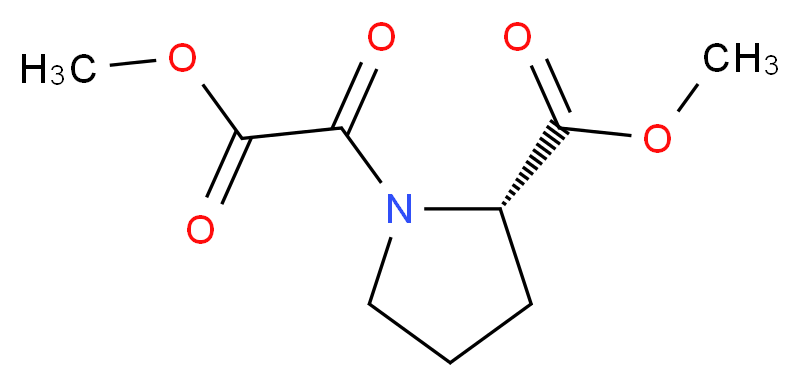 methyl (2S)-1-(2-methoxy-2-oxoacetyl)pyrrolidine-2-carboxylate_分子结构_CAS_139419-63-9