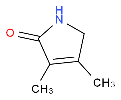 1,5-Dihydro-3,4-dimethyl-2H-pyrrol-2-one_分子结构_CAS_4030-22-2)