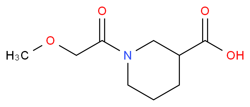 1-(2-methoxyacetyl)piperidine-3-carboxylic acid_分子结构_CAS_926238-94-0