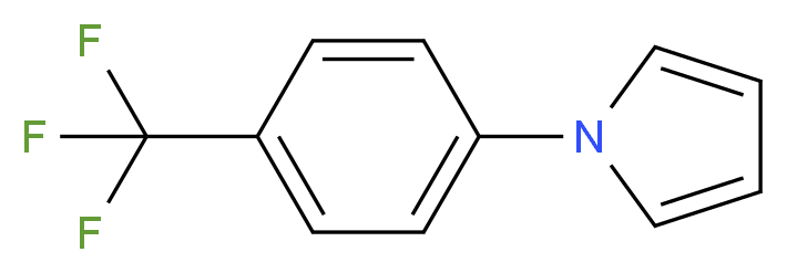 1-[4-(trifluoromethyl)phenyl]-1H-pyrrole_分子结构_CAS_92636-38-9