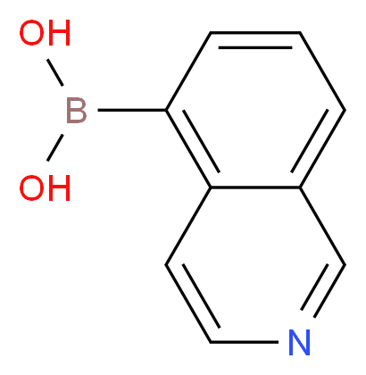 (isoquinolin-5-yl)boronic acid_分子结构_CAS_371766-08-4