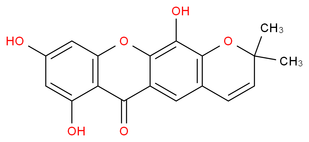 7,9,12-trihydroxy-2,2-dimethyl-2,6-dihydro-1,11-dioxatetracen-6-one_分子结构_CAS_92609-77-3