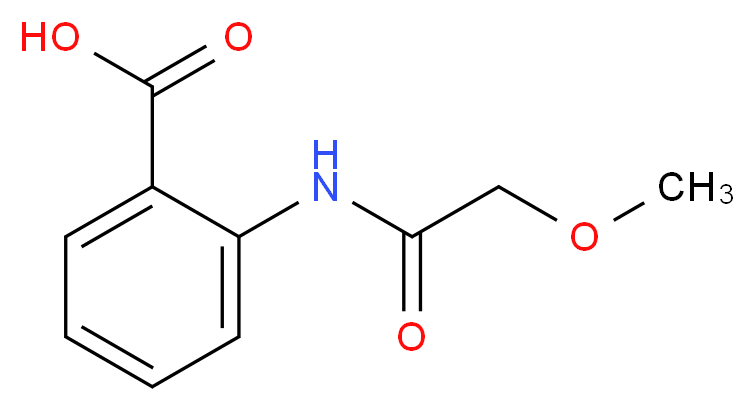 2-(2-methoxyacetamido)benzoic acid_分子结构_CAS_215102-53-7