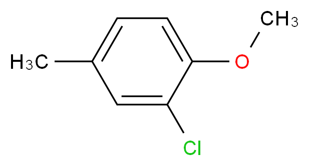 2-chloro-1-methoxy-4-methylbenzene_分子结构_CAS_22002-44-4