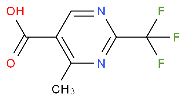 4-Methyl-2-(trifluoromethyl)pyrimidine-5-carboxylic acid_分子结构_CAS_306960-74-7)