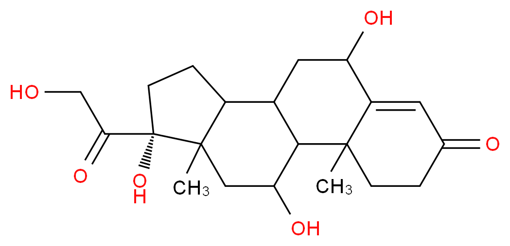 (14R)-8,14,17-trihydroxy-14-(2-hydroxyacetyl)-2,15-dimethyltetracyclo[8.7.0.0<sup>2</sup>,<sup>7</sup>.0<sup>1</sup><sup>1</sup>,<sup>1</sup><sup>5</sup>]heptadec-6-en-5-one_分子结构_CAS_3078-34-0