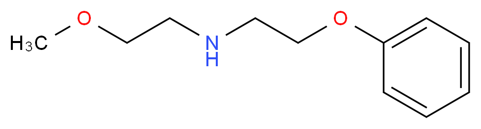 (2-methoxyethyl)(2-phenoxyethyl)amine_分子结构_CAS_884497-53-4
