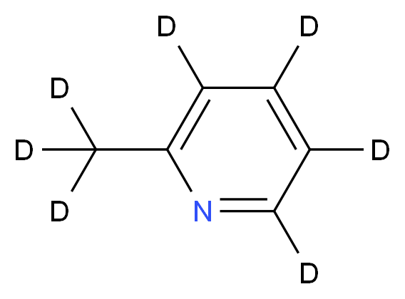 2-(<sup>2</sup>H<sub>3</sub>)methyl(<sup>2</sup>H<sub>4</sub>)pyridine_分子结构_CAS_93951-93-0