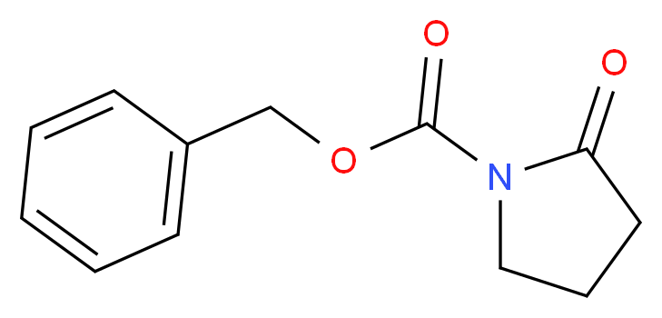 benzyl 2-oxopyrrolidine-1-carboxylate_分子结构_CAS_14468-80-5