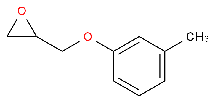 2-(3-methylphenoxymethyl)oxirane_分子结构_CAS_2186-25-6