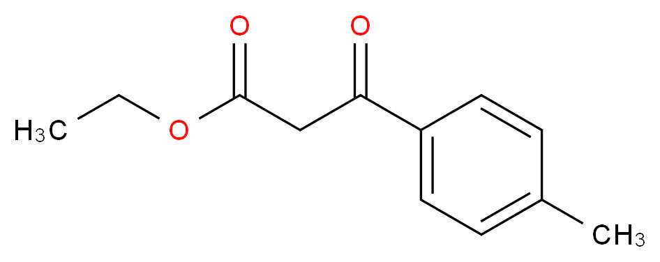 ethyl 3-(4-methylphenyl)-3-oxopropanoate_分子结构_CAS_27835-00-3