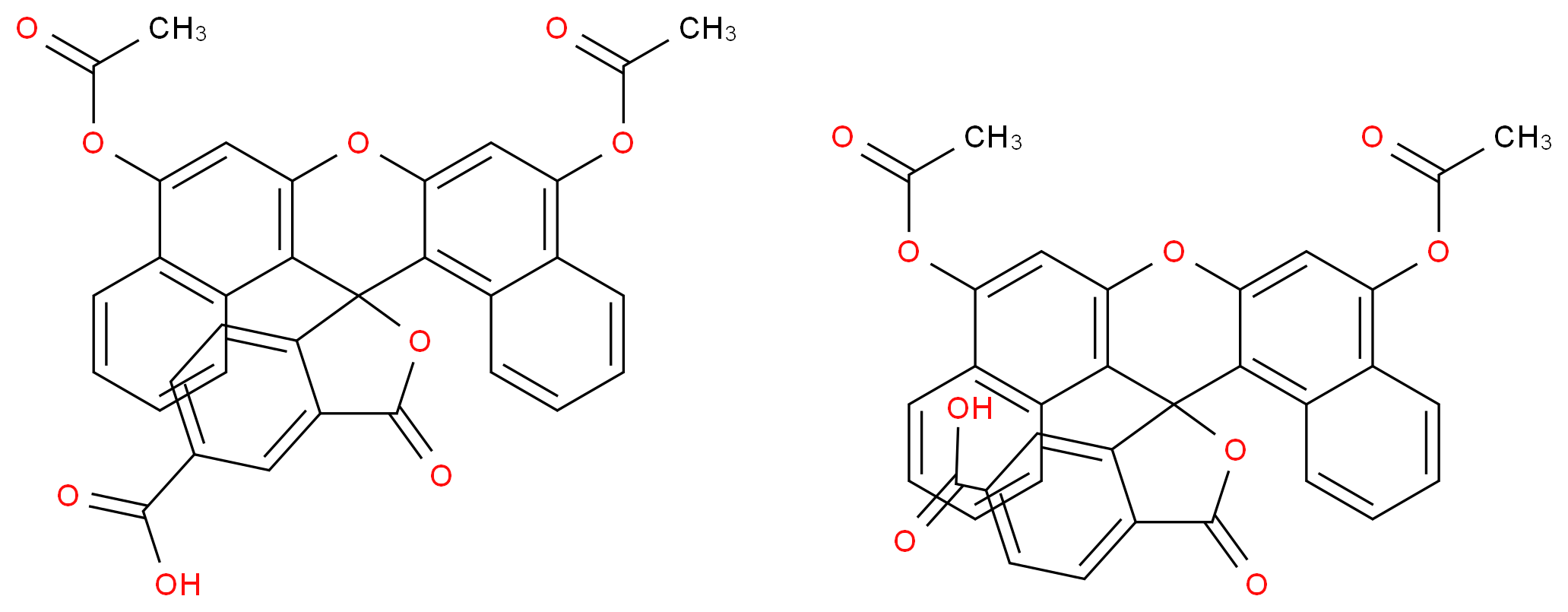 5(6)-Carboxynaphthofluorescein diacetate_分子结构_CAS_163831-68-3)