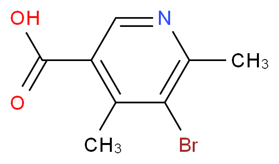 5-Bromo-4,6-dimethyl-nicotinic acid_分子结构_CAS_93350-01-7)