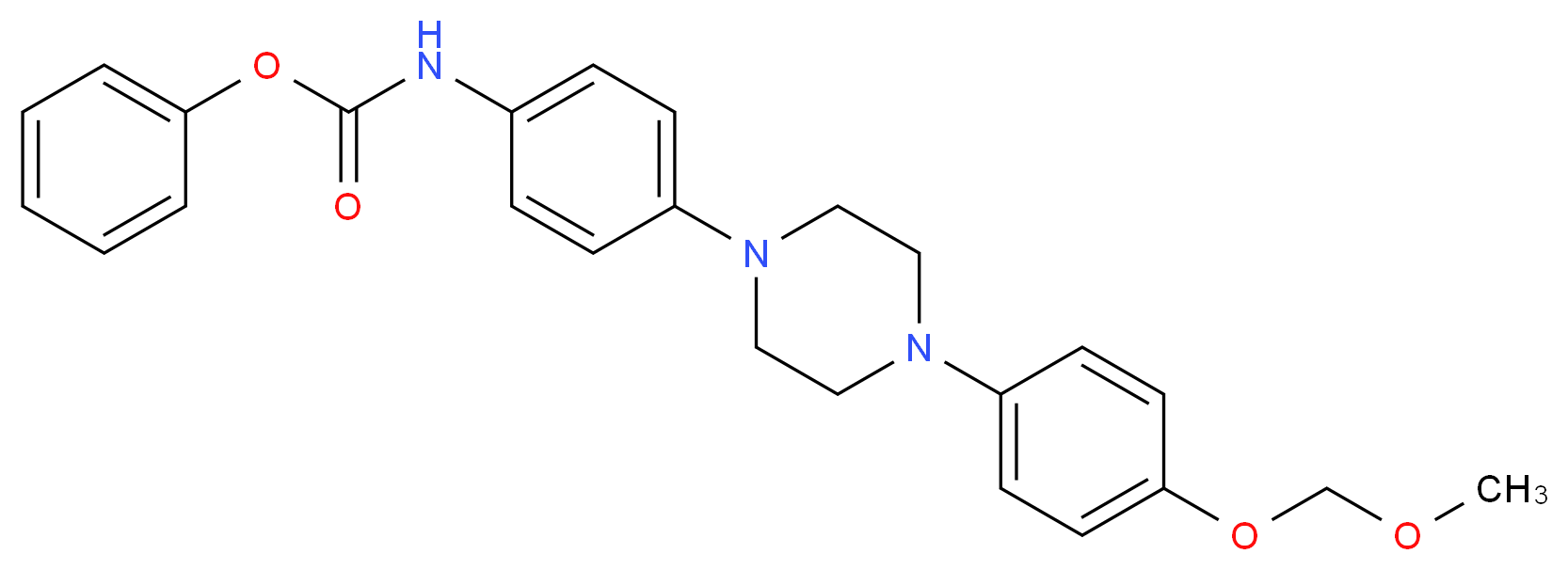 4-[4-(4-O-Methoxymethyl-4-hydroxyphenyl)-1-piperazinyl]phenyl]carbamic Acid Phenyl Ester_分子结构_CAS_1329503-19-6)