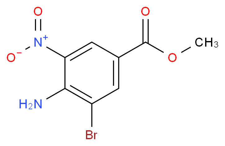Methyl 4-amino-3-bromo-5-nitrobenzenecarboxylate_分子结构_CAS_)