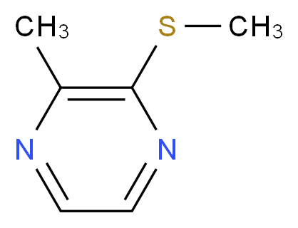 2-methyl-3-(methylsulfanyl)pyrazine_分子结构_CAS_2882-20-4