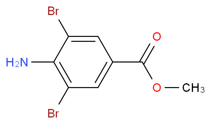 Methyl 4-amino-3,5-dibromobenzoate_分子结构_CAS_3282-10-8)