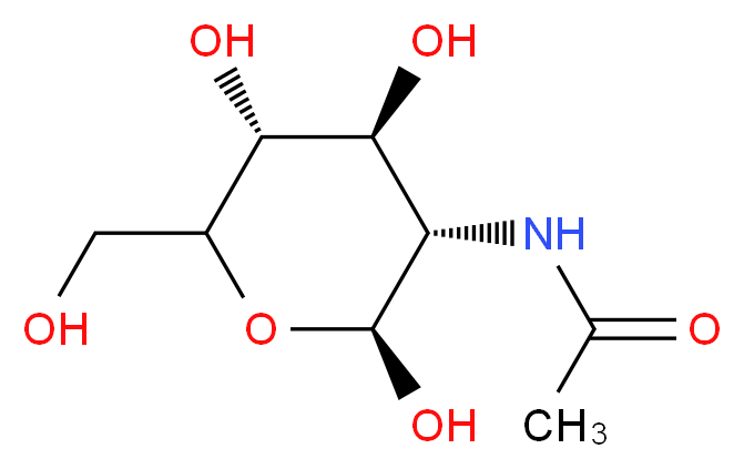 N-[(2S,3S,4S,5R)-2,4,5-trihydroxy-6-(hydroxymethyl)oxan-3-yl]acetamide_分子结构_CAS_31022-50-1