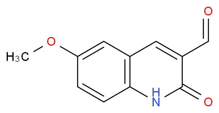 6-Methoxy-2-oxo-1,2-dihydro-quinoline-3-carbaldehyde_分子结构_CAS_123990-78-3)