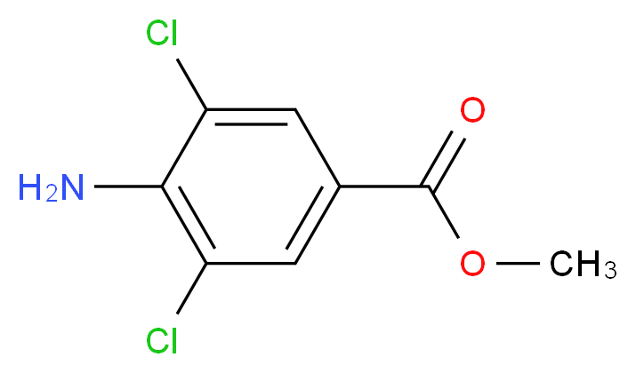 Methyl 4-amino-3,5-dichlorobenzoate_分子结构_CAS_41727-48-4)