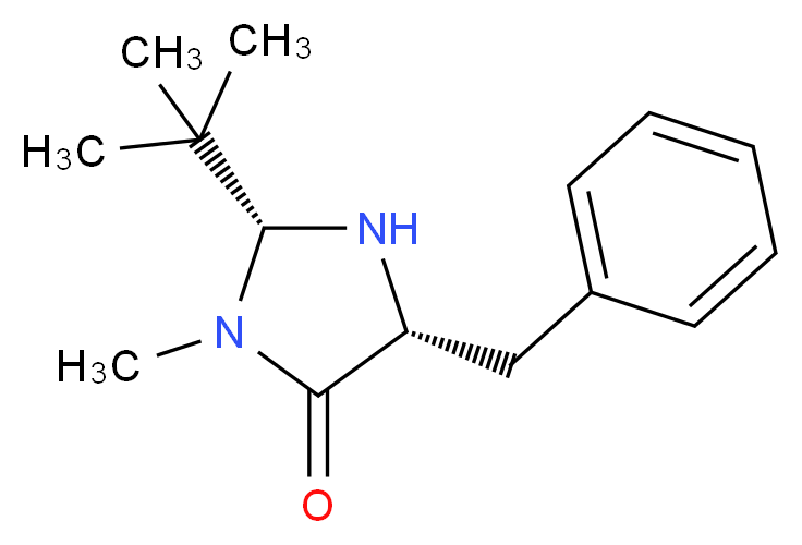 (2R,5R)-5-benzyl-2-tert-butyl-3-methylimidazolidin-4-one_分子结构_CAS_390766-89-9