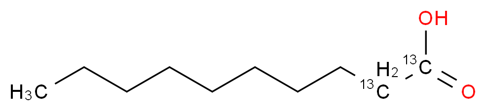 (1,2-<sup>1</sup><sup>3</sup>C<sub>2</sub>)decanoic acid_分子结构_CAS_287111-30-2