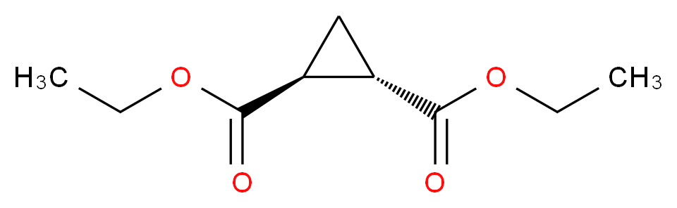 1,2-diethyl (1S,2S)-cyclopropane-1,2-dicarboxylate_分子结构_CAS_3999-55-1